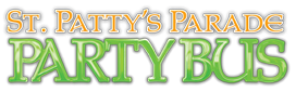 St. Patty's Parade Party Bus Logo